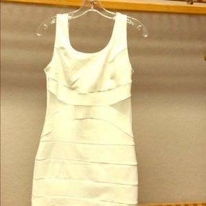 White bandage sparkle dress